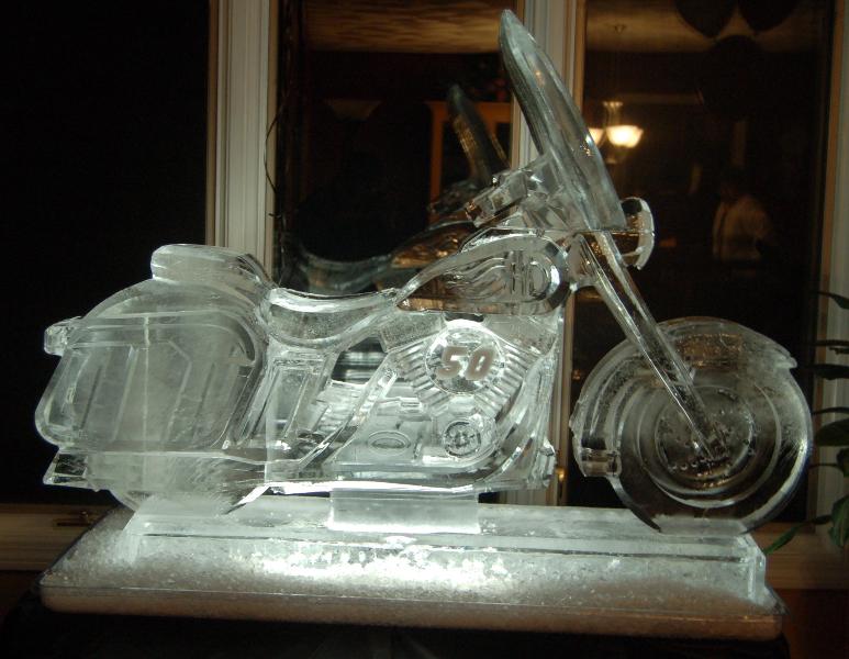 Double Block Harley Davidson Bike