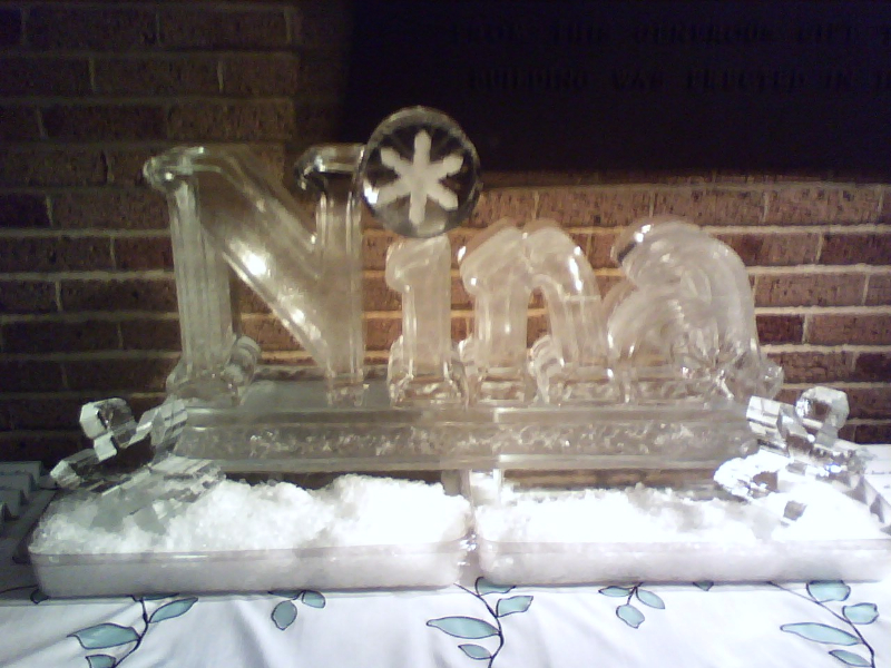 Carved Letters with Snowflakes