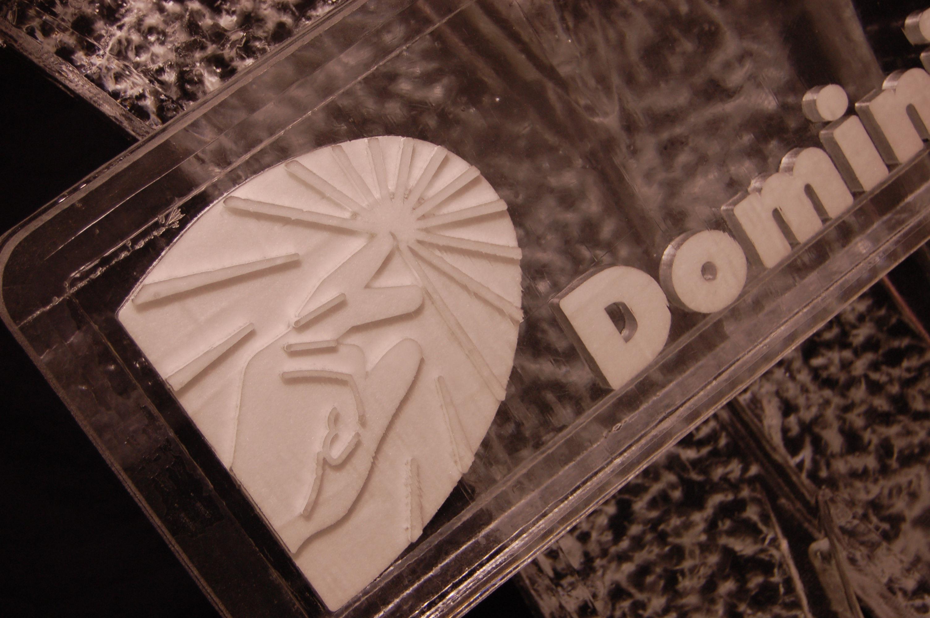 Dominion Logo 3D Snowfill