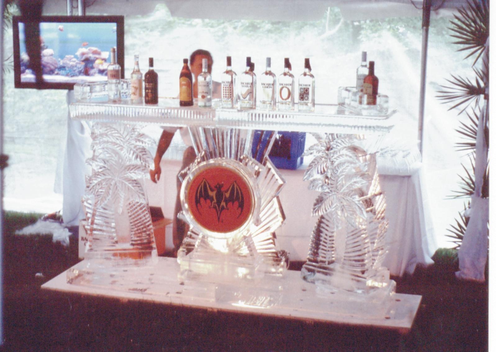 Barcardi Palm Tree Ice Bar