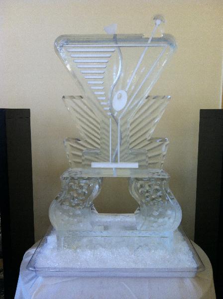 Snow Martini Glass Tube Luge